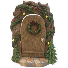 New Woodland Christmas Fairy Door/Large Winter Woods Fairy Door /18cm
