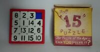 Fairylite 15 Puzzle Square Game Vintage 1950's Bakelite Boxed