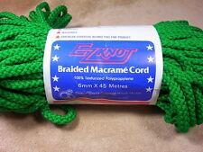 EZ Knot Braided Macrame Craft Cord Rug Yarn 6 MM 50 YDS Green
