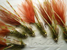 Irideus Custom Swimming Olive Oil Wooly Bugger Trout Fly Fishing Fly Steelhead
