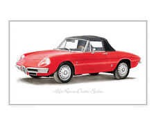 Alfa Romeo Duetto Spider - Limited Edition Classic Car Print Poster Steve Dunn
