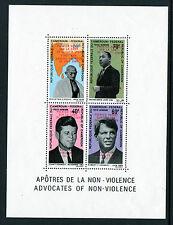 1968 Cameroun Sc C115a Overprint Souvenir Sheet Ss Mnh, Jfk, Gandi, Mlk, Rfk*