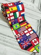 "International World Flags 1999 RALPH MARLIN & CO. Suit Necktie 57"""