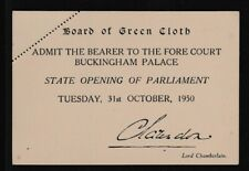 1950 Invitation To Buckingham Palace For The State Opening Of Parliament