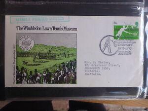 UK 1977 WIMBLEDON CENTENARY TENNIS MUSEUM SOUVENIR COVER