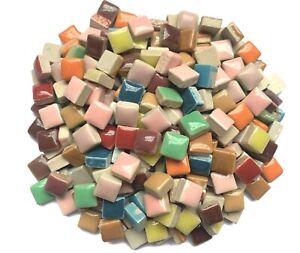Tiny Ceramic Mosaic Tiles For Crafts Square Mosaic Arts Pieces Hobbies 100PCS