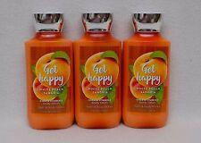Bath & Body Works Get Happy White Peach Sangria Shea & VitE Body Lotion Set of 3