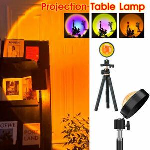 Sunset Projector Lamp USB Atmosphere LED Rainbow Night Light Home Decor