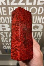 Stabilized & Dyed Box Elder Burl Knife Block      5.10 x  1.90 x 1.35     (5647)