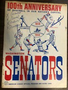 MLB HARMON KILLEBREW SIGNED SENATORS DETROIT SCORECARD PROGRAM 1959 GOOD CON
