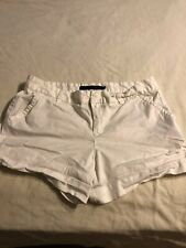 Calvin Klein Women's Shorts Size 14 White Good Condition Summer Casual