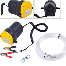 12V DC Oil Diesel Fluid Electric Transfer Pump for Car Motorbike -Yellow + Black