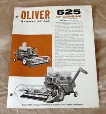 Vintage Oliver Corporation 525SP Combine Advertising Brochure -Ca 1963!
