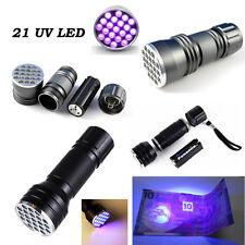 Violet 21 LED UV 395-400 nm Linterna Luz ultravioleta antigolpes Lámpara