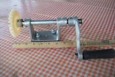 Plastics gear with mounting base and crank