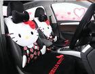 1 Sets New Hello Kitty Car Cute Universal Car Seat Covers Cushion Plush Black 05