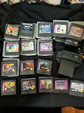 HUGE Game Gear Lot! TV Tuner! 15 Games, all tested! Car Adaptor! Look!