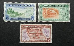Tokelau Local Scene Postage Revenue 1948 House Village Map (stamp) MNH *recess