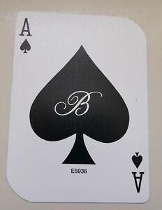 GENUINE LAS VEGAS SINGLE PLAYING CARD USED IN ACTUAL PLAY IN THE BELLAGIO CASINO