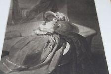 Frau auf Sofa  - Radierung v. H. Hudson nach H. Walton - Orig. wohl um 1850