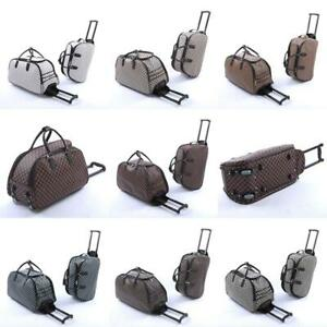 LADIES HAND LUGGAGE WITH WHEELS WEEKEND TRAVEL BAG HOLDALL OVERNIGHT