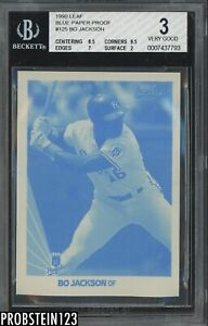 1990 Donruss Blue Paper Proof #125 Bo Jackson Kansas City Royals BGS 3 w/ 9.5