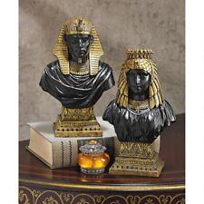 Egyptian King Rameses II And Queen Nefertari Design Toscano Sculptural Busts