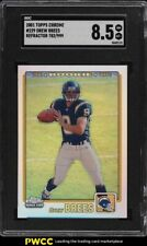 2001 Topps Chrome Refractor Drew Brees ROOKIE RC /999 #229 SGC 8.5 NM-MT+