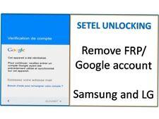 Remove google account/Supprimer compte google/ Bypass frp lock samsung, LG