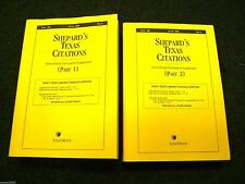 Shephard's Texas Citations Semi-annual Cumulative Supplement * Part 1 & 2 * 2008