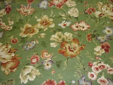 P Kaufmann Green Floral decorator  Drapery Sewing Fabric By the Yard