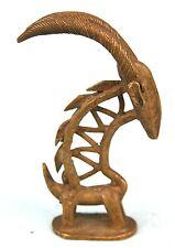 Art Africain Ethnographique Tribal - Figurine Ci Wara en Bronze - 10 Cms +++++++