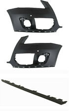 NEW Front Bumper cover 3 pc LH RH side with park assist fits 2009-12  Q5