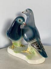 Rare Vintage Goebel Pigeons Dove Lovebirds Germany Porcelain Bird Figurine 38244