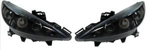 For Peugeot 207 207Cc 06+ Black Angel Eye Headlights Lighting Lamp Replacement