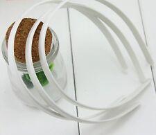 20pc White Fashion Plain Lady Plastic Hair Band Headband No Teeth Hair DIY Tool