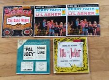 Li'l Abner Percy Faith Pal Joey Me & Juliet The Band Wagon Lot of 45s Jukebox EP