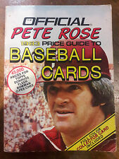 1983 PHILADELPHIA PHILLIES PETE ROSE PRICE GUIDE TO BASEBALL CARDS BOOK 00072