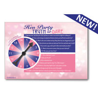 pack of 8 Bride-to-be it/'s my party truth or dare coasters