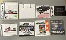 Final Fantasy VI Nintendo Game Boy Advance Box Manual Inserts Only No Game