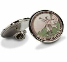 VOTES FOR WOMEN SUFFRAGETTE BUGLE LAPEL BADGE