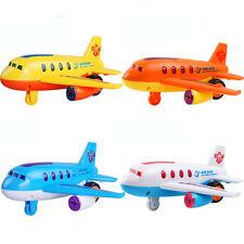Electric Moving Airplane Music Flashing Light Kids Toy Aircraft Aeroplane Gift