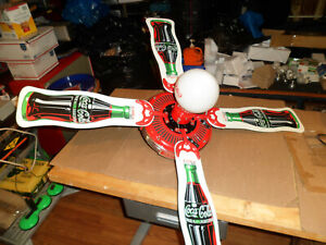 Rare Vintage Coca-Cola Ceiling Fan With Light