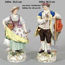 NP 18.750,-€ Meissen 2 große Gärtner Figuren Paar Rosen-Edition Höhe 36cm Figur