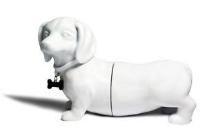 Danya B Dachshund Dog Bookend Set - White