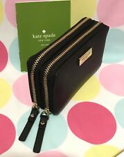 NEW KATE SPADE ROSIE LAUREL WAY DOUBLE  ZIP COIN / CARD CASE WALLET  BLACK $99