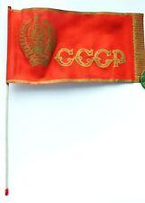 Original Old Soviet Russian USSR Flag on a stick Banner Pennon Pennant Marker