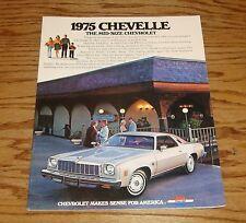 Original 1975 Chevrolet Chevelle Sales Brochure 75 Chevy Malibu Laguna