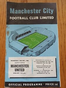 1956 FA CHARITY SHIELD PROGRAMME - Manchester City v Manchester United