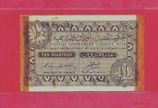 1940 10 EGYPTIAN PIASTER 1940.SIGN BY AMEN OTTOMAN ,AUNC